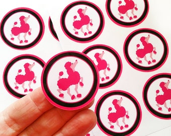 Snailmail or pocket letter stickers or set with DOGS