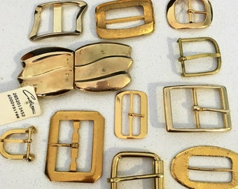 11 amazing old gold buckles  Beauty!