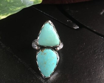 Under & Over Double Turquoise Ring