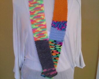 Multicolored  Crochet Child' Scarf