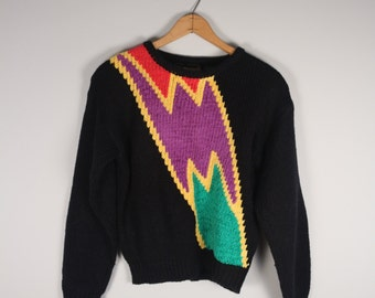 1980s Graphic Bolt Sweater