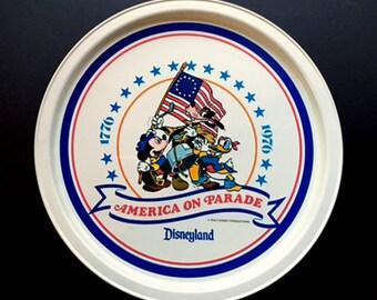 Disney Bicentennial  America on Parade Aluminum Tray