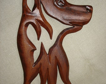 2018 year of the dog, Wooden dog, Carving Wall Dog, Wood carving Dog, German shepher dog, Wooden animals