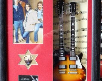 The Eagles Tribute Miniature Guitar & Plectrum