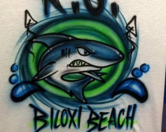 Shark Airbrushed Shirt
