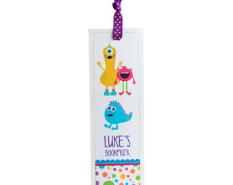 Personalised Monster Bookmark