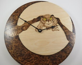 Owl Moon large Clock