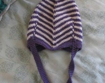 Purple Striped Pixie Hat