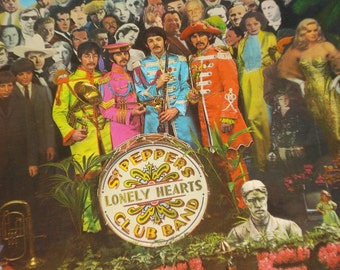 The Beatles vinyl record, Sgt Peppers Lonely Hearts Club Band vintage record album