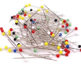 50mm pins with glass Dekonadeln decorative needles