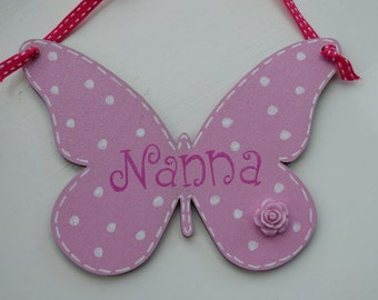 Butterfly wall plaques personalised