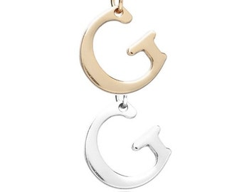 """Letter """"G"""" (Silver or Gold tone) [5 pieces]"""