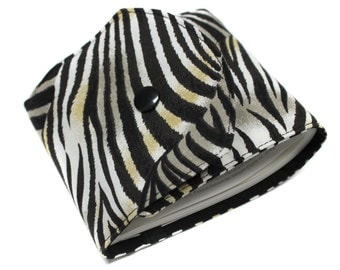 long checkbook Zebra black and white fabric