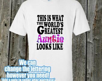 World's Greatest Auntie shirt