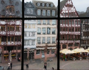 Frankfurt, view of Romerberg's square, like a paint, incredible effect