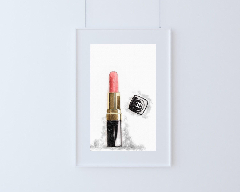 chanel Lipstick illustration fine art printable print
