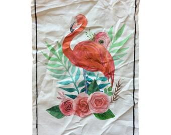 Dirty Old Canvas Big Flamingo