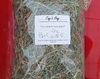 1 lb PREMIUM 1st Cut Timothy/Orchard Grass RABBIT, CHINCHILLA, Guinea Pig, Gerbil & Hamster Hay