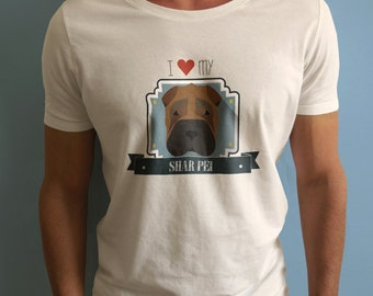 Shar pei t shirt-shirt-custom design sweater t-shirt dog breed pet-gadgets-gift idea-sharpei