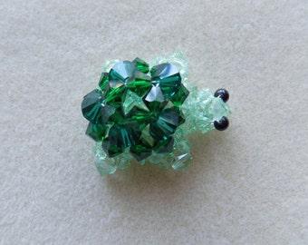 Beaded Swarovski Crystal Turtle