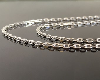 20 inch Sterling Silver Chain Necklace - Silver Chain -  Womens Necklace - 20 inch Silver Necklace - 20 inch chain