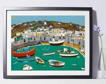 Mykonos Art - Greece Gift - Greece Art - Home Decor