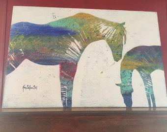 Chromatic Silhouette of Horses