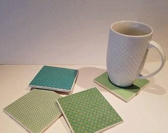 Tile Coasters - 4Pk