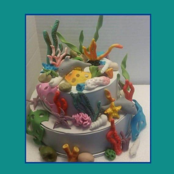 Edible Cake Decoration Recipe : Under the sea edible complete cake decoration