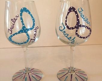 Trailer Trash wine glasses