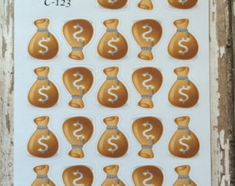 Pay Day Stickers, Budgeting Stickers, Money Stickers,  C-123.