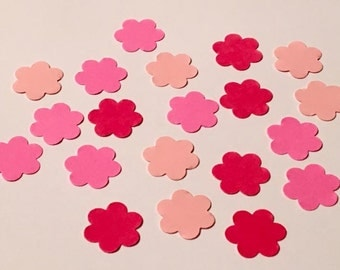 225 Pink Confetti Birthday Confetti Glitter Confetti Shower Confetti Flower Confetti Pink Flowers Birthday Girl Garden Party Confetti