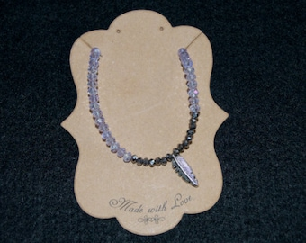 Featherlight Bracelet - Lavender & Silver