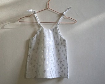 White and Silver Cactus Dress