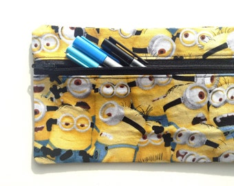 Minion pencil case // novelty handmade item suitable for any Minion lover!