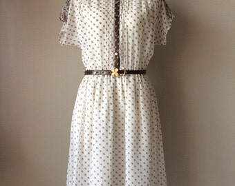 1970s tea dress, day dress, sun dress