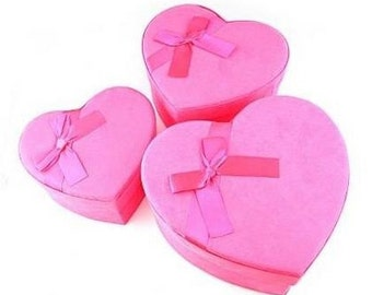 Pink heart gift box 3 in one