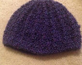 Chunky Purple Crochet Hat