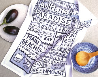 Surfers Paradise Tea Towel