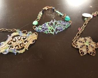 Vintage Style Bracelets (Set of 3)