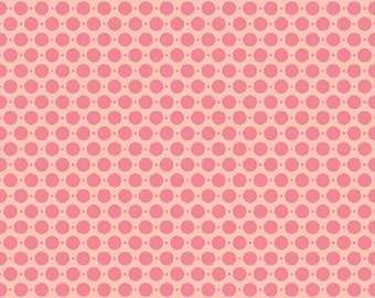 "Riley Blake designs ""Sweet Nothings""  Pink Dots     Cotton Fabric  Remnant"