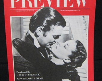 """Preview Magazine """"Program Guide to the AFI"""" - January 1980"""