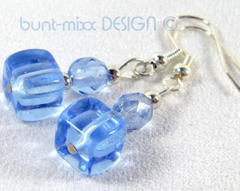 "Earrings light blue ""Ice cubes"" Silver Blue colorful-mixx-DESIGN"