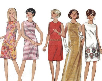 1960s Vintage Sewing Pattern - Butterick 4644 - Mod Dress