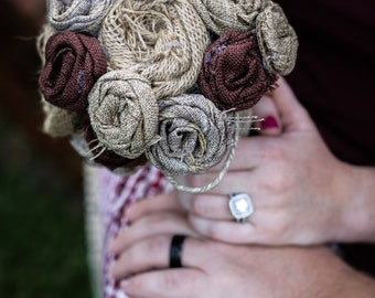 Burlap/Ribbon Bouquet