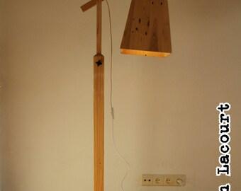 Floorlamp pallet wood