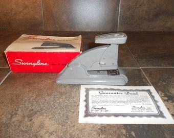 Vintage Swingline No 3 Stapler Complete
