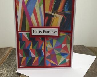 Happy Birthday Card, Happy Birthday Contemporary Art Card, Happy Birthday Art Card, Card for the Artist, Birthday Card