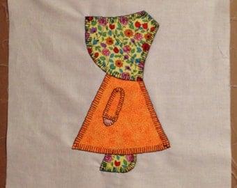 9 Sun Bonnet Sue Quilt Squares 1930's Pattern