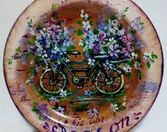Wooden plates/Living room ideas/Large decorative plates/Wall hangings/Custom gifts of wood/Wooden Gifts/Rustic home decor/Eco friendly decor